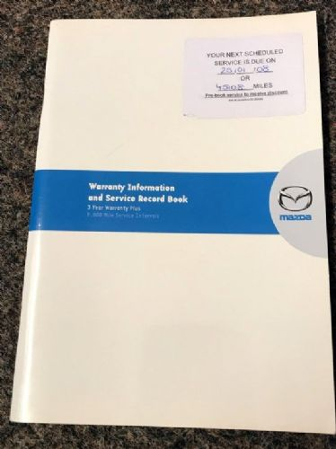 Service book, Mazda MX-5 mk2.5, 07/2002, 810077522, USED
